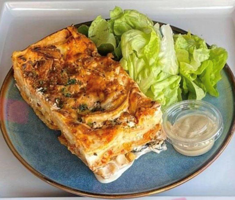 Lasagne végétarienne aux légumes provençaux grillés & trois fromages